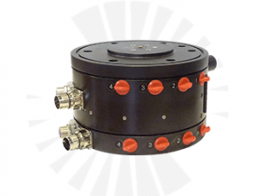 Combination of Slip Ring and Rotary Union ROTOKOMBI for automation