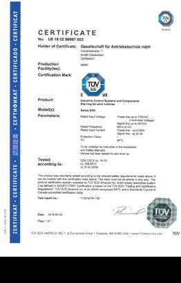 Gat Slip Rings Rotoflux Esr Receive Ul Csa Certification